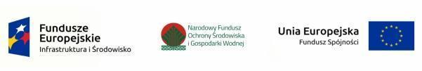baner z logami Funduszy Europejskich, Narodowego Funduszu Ochrony Środowiska i Gospodarki Wodnej i i Funduszu Spójności Unii Europejskiej